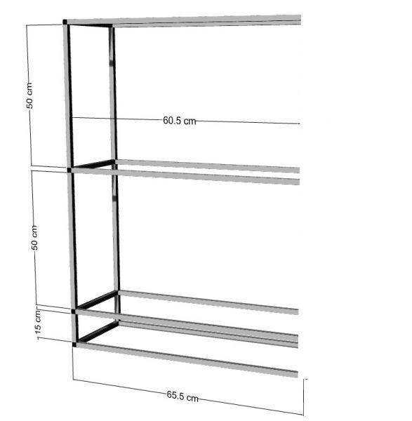 Anbauregal für 2-3St. 60x30x30cm Aquarien