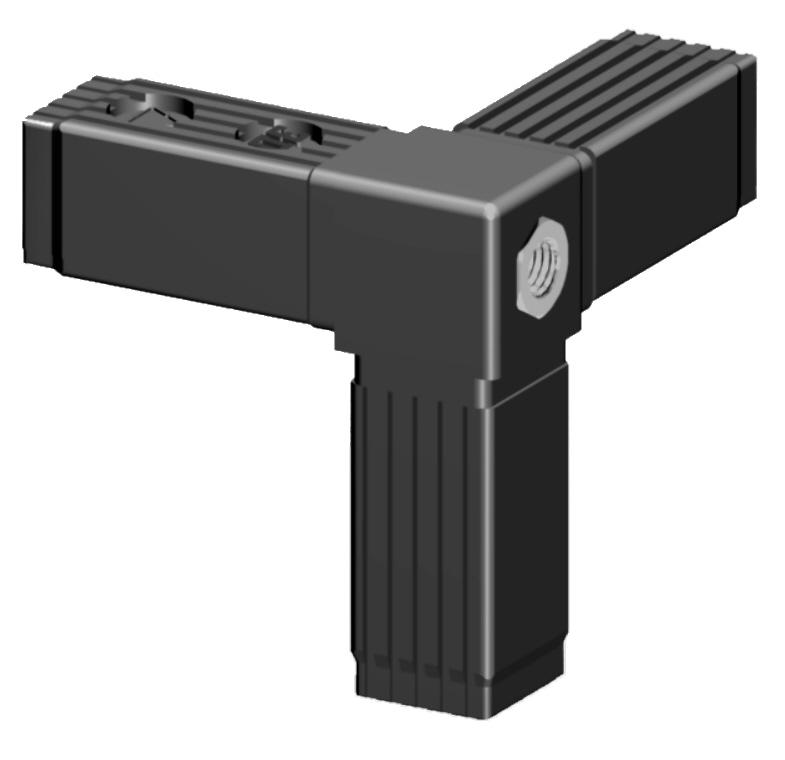 Steckverbinder schwarz für 25mm ALU - Profil