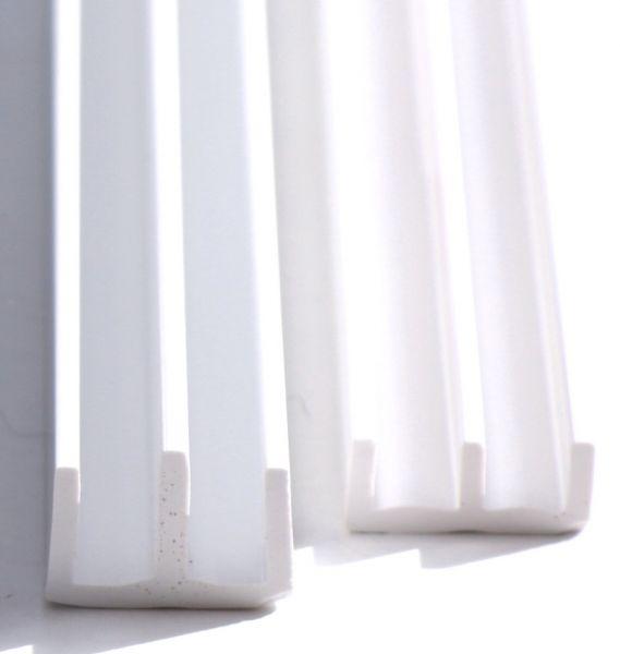 Schiebetürprofil 4mm - weiß - oben