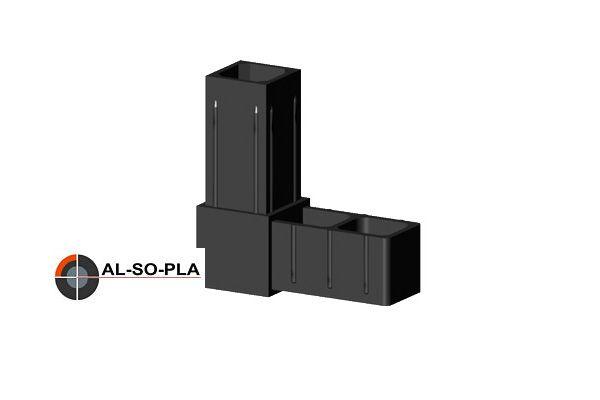 Winkelverbinder Glasfaserverstärkt für 20mm Profilrohr