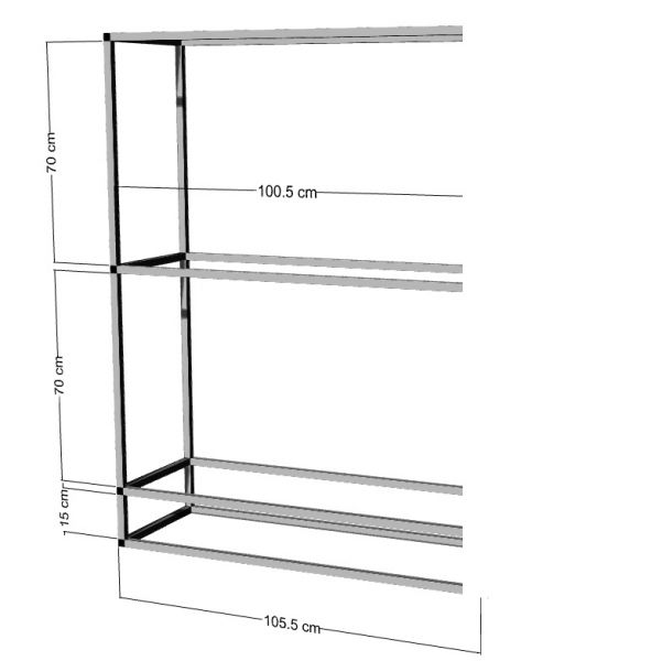 Anbauregal für 2-3St. 100x50x50cm Aquarien