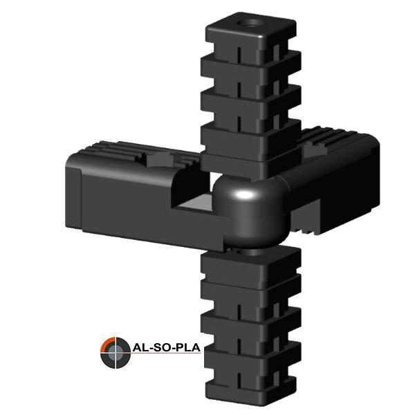 4er Gelenkverbinder 60-300° O.Kopf