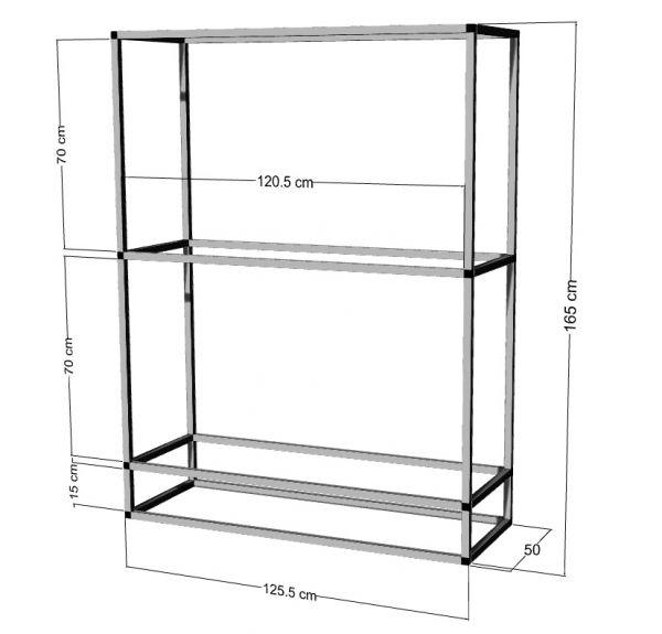 Regal für 2-3St. 120x50x50cm Aquarien