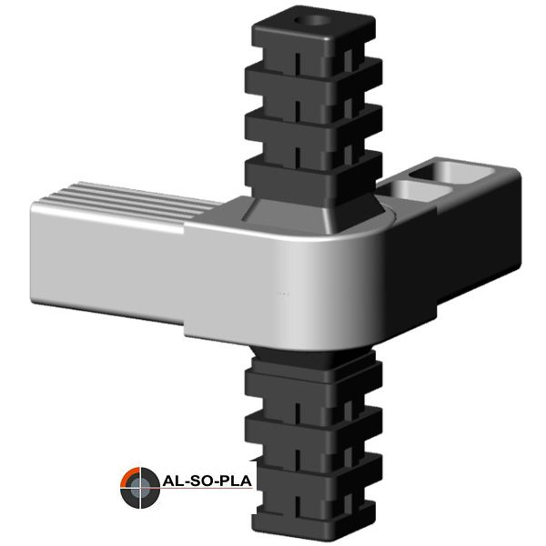 4er Gelenkverbinder 45-195° GRAU