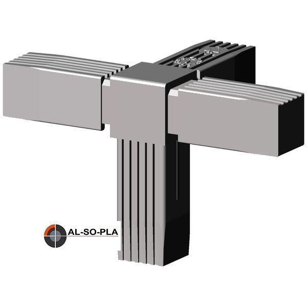 4er Verbinder für 25mm Profil - Kunststoff - grau 9006