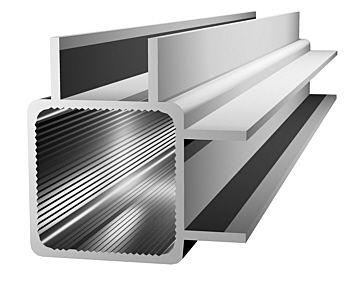 Aluminiumprofil 25x25x1,5mm mit Doppelsteg - Ecke - (Nut 16mm) -