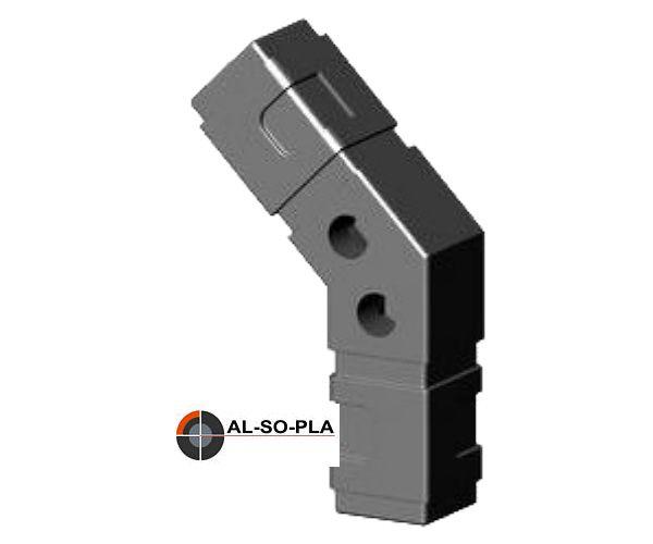 Achteckverbinder für 25mm Profil o.Kopf