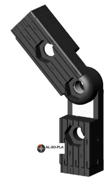 Winkel- Gelenkverbinder 60-300° o.Kopf
