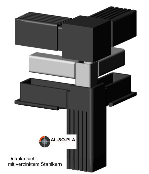 Steckverbinder für 25x25x1,5mm Profil