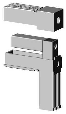 Winkel mit M10 Gewinde grau 9006