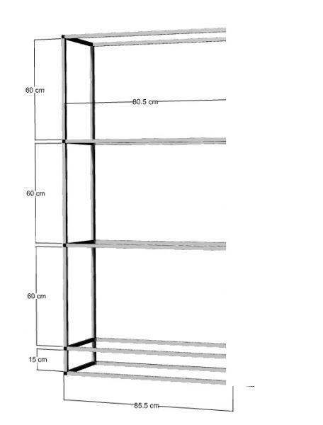 Anbauregal für 3-4St. 80x35x40cm Aquarien