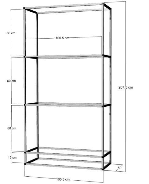 Regal für 3 St. 100x50x40cm Aquarien