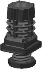 Verstellgleiter für Profile 25x25x1,5mm