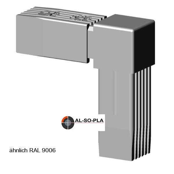 Winkel Verbinder für 25mm Profil grau RAL 9006