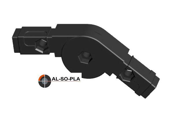 Winkel- Gelenkverbinder für 20mm Profil 0-220°