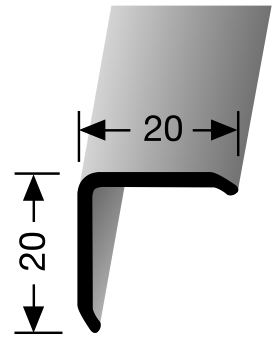 Kantenschutz Winkel 20x20mm - Natur