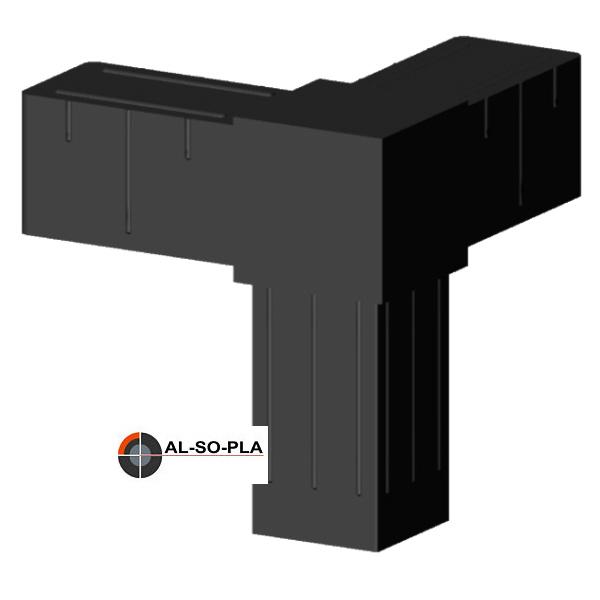 Kunststoffverbinder für 20x20x1,5mm Profile