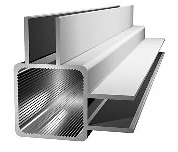 Aluminiumprofil 25x25x1,5mm mit Doppelsteg - Ecke - (Nut 9mm) -