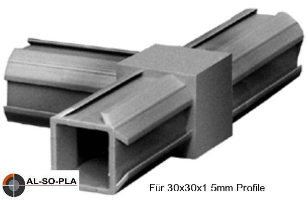 T - Stück für 30x30x1,5mm Profile