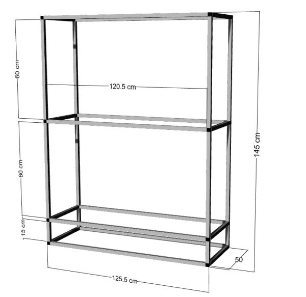 Regal für 2-3St. 120x50x40cm Aquarien
