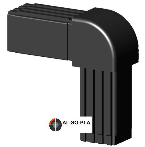 Winkel Verbinder Kopf - rund - für 25x25x2mm Profil - mit Stahlkern