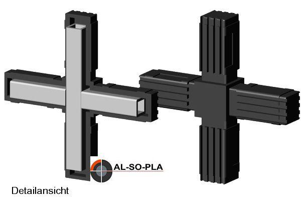 Kreuz Verbinder - für 20mm Profil
