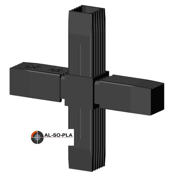 Kreuzverbinder für 25mm Profilrohr