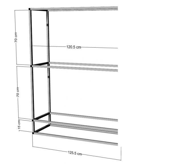 Anbauregal für 2-3St. 120x50x50cm Aquarien