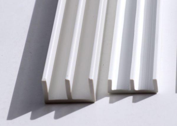 Schiebetürprofil 6mm - weiß - oben