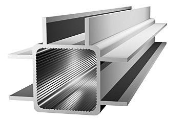 Aluminiumprofil 25x25x1,5mm mit Doppelsteg - Links/Rechts/Mitte