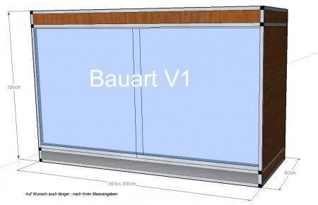 Terrarium V1 - 200x60x100cm
