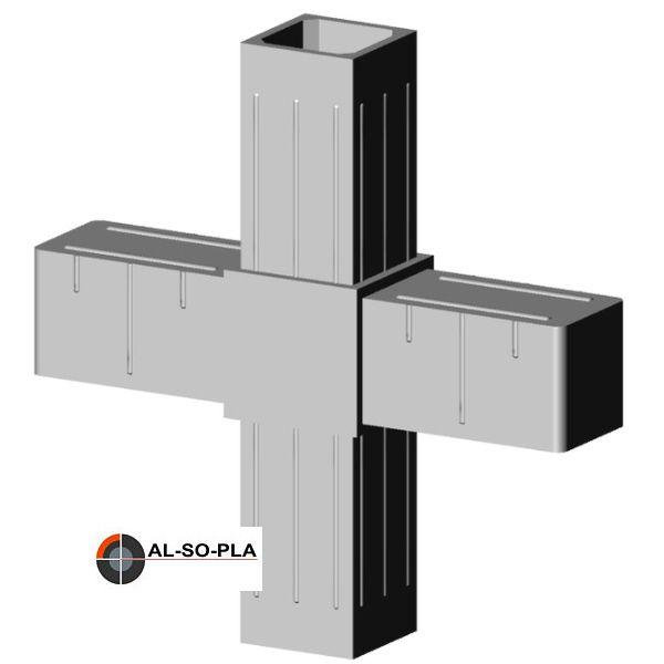 Kreuzverbinder für 20m Profil Farbe:grau