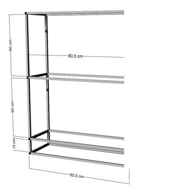 Anbauregal für 2-3St. 80x40x40cm Aquarien