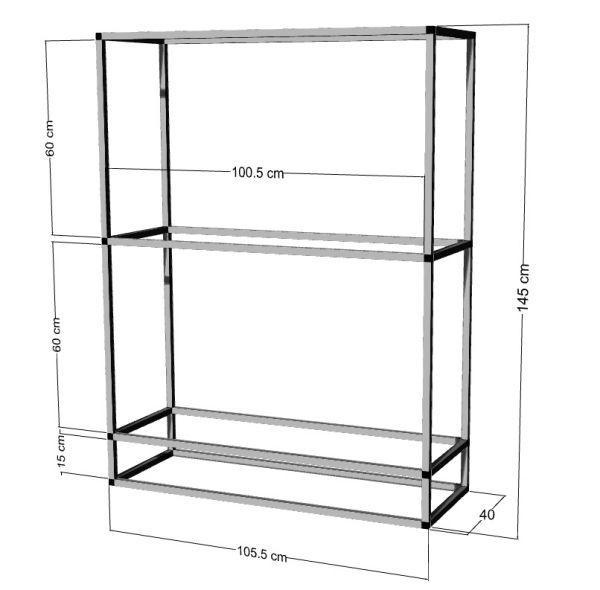 Regal für 2-3St. 100x40x40cm Aquarien