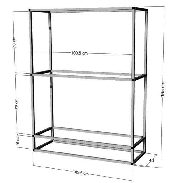 Regal für 2-3St. 100x40x50cm Aquarien