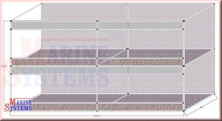 Terrarienwand 380 x 80 x 200cm