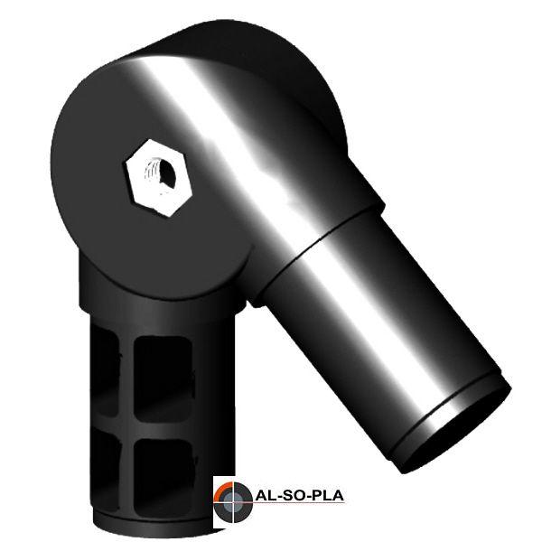 Winkel - Gelenkverbinder für 40x2mm Rundrohr, 40-190°