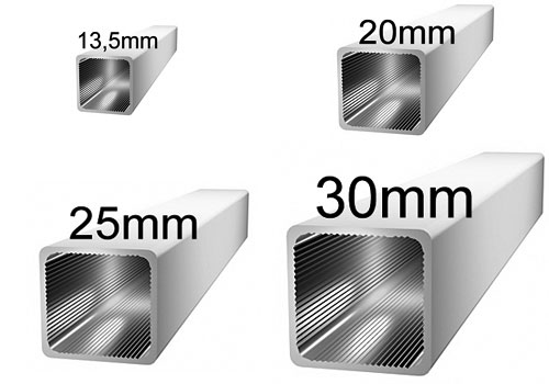 Aluminiumprofile 13,5-30mm