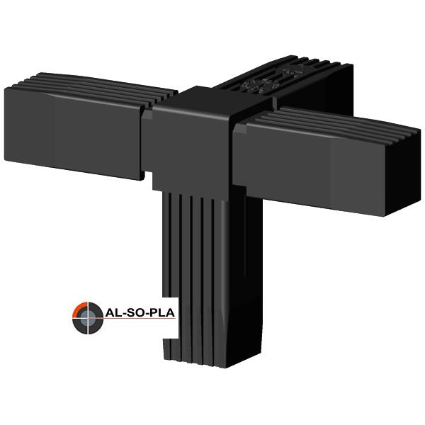 Steckverbinder schwarz für 25x25x1,5mm ALU - Profil