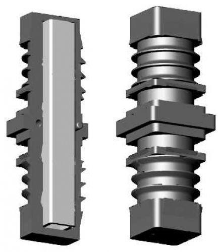 Rohrverbinder mit Stahlkern - 5mm Bund - 20mm Profil
