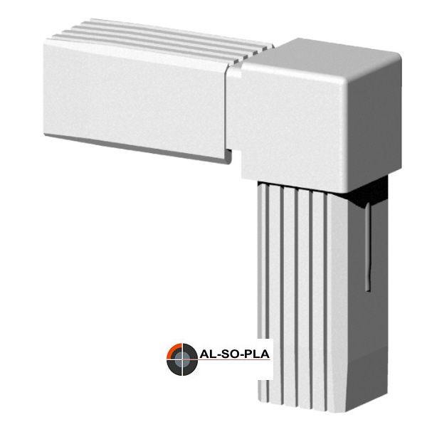 Winkel Verbinder für 25mm Profil. Farbe: grau