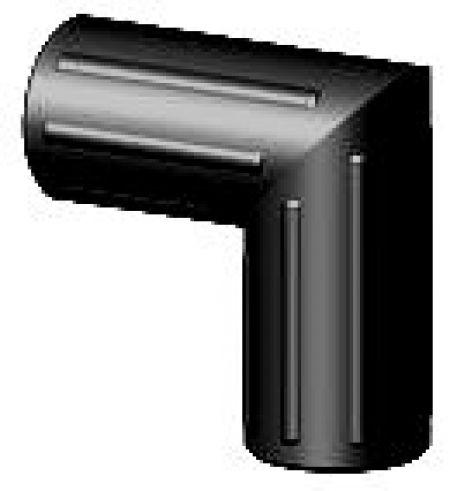 Steckverbinder - Winkel - ohne Kopf für Rundrohre 40x2mm