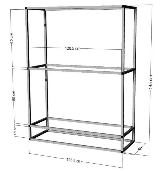 Regal für 2-3St. 120x40x40cm Aquarien