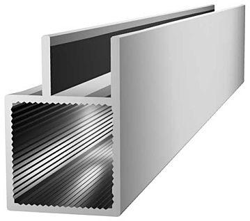 Aluminiumprofil 20x20x1,5mm mit Doppelsteg -(Nut 10mm) -