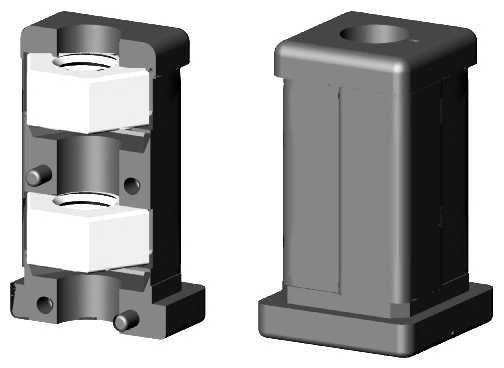 Rohranschluss mit Gewinde M10 - für 25mm Profil mit Bund/Lippe