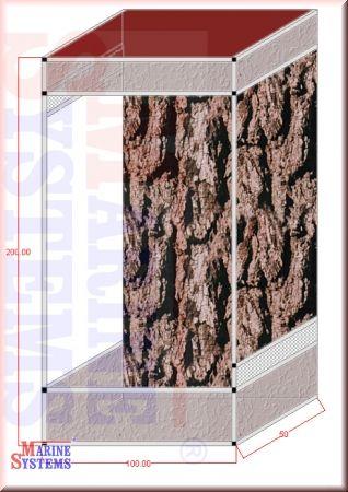Terrarium 100x50x200cm
