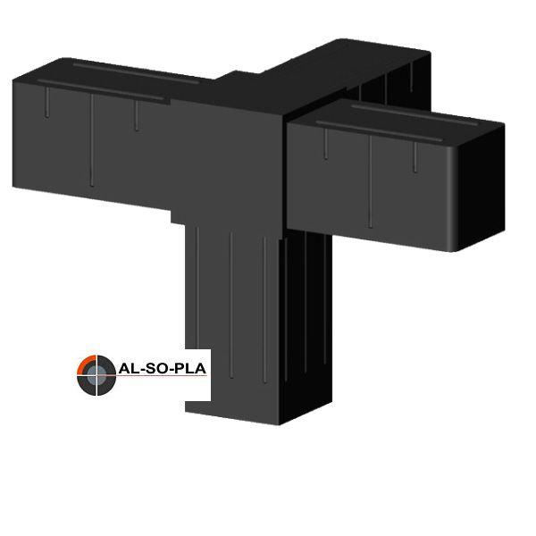 4er Verbinder für 20mm Profil - Kunststoff - Glasfaserverstärkt