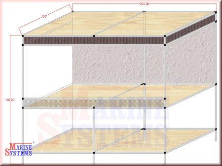 Terrarium 200 x 100 x 100 plus Tisch 80cm