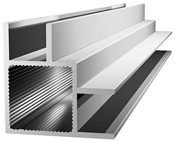 Aluminiumprofil 20x20x1,5mm mit Doppelsteg - Ecke - Nut 10mm