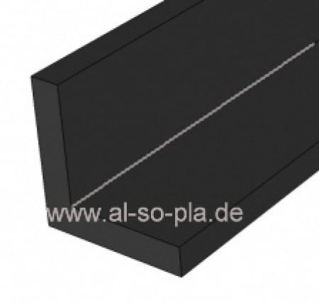Winkel-Profil schwarz 15x15x1mm - Kunststoff